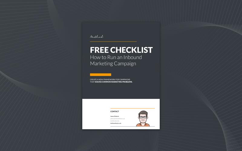 Inbound marketing checklist